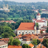 View of the old town of Vilnius, Lithuania